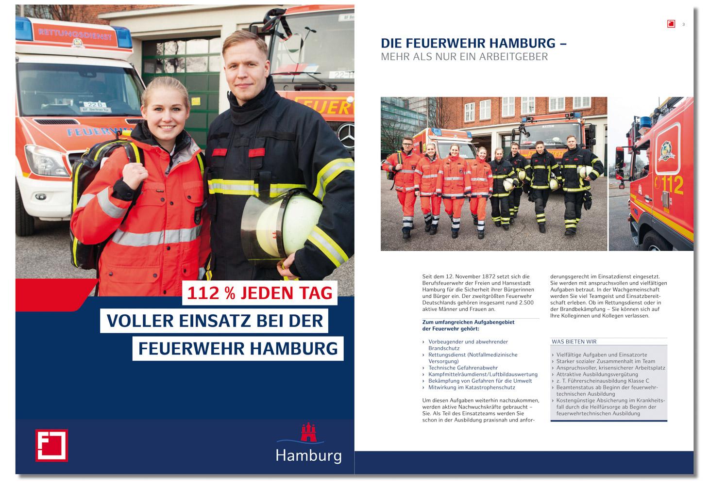 Feuerwehr Hamburg, Broschüre für Auszubildene