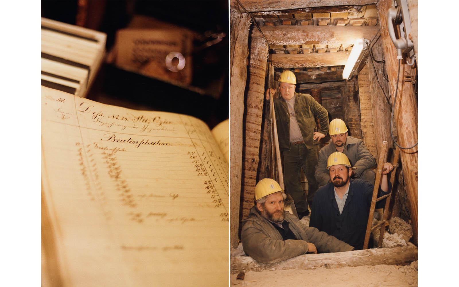 Das Archiv der Meissener Porzellanmanufaktur, Bergwerk für Kaolin in der Nähe von Meissen