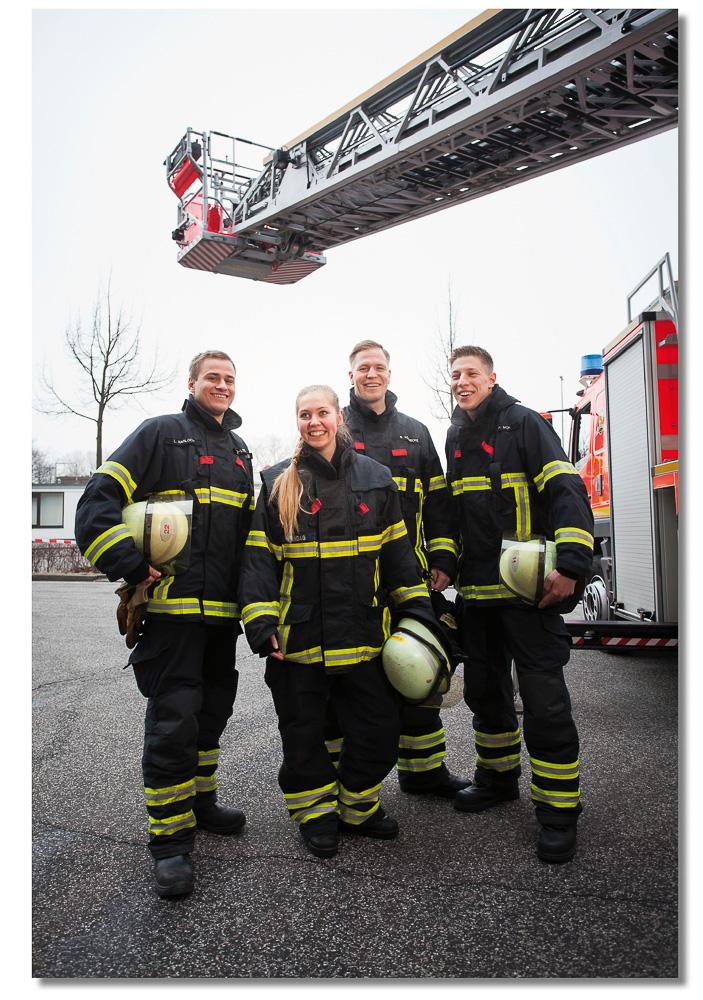 Ausbildungsbroschüre für die Feuerwehr Hamburg, von JS Deutschland